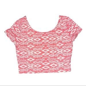 H&M Pink and White Crop Top